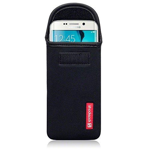 Shocksock Samsung Galaxy S6 Edge Neopren Tasche für Samsung Galaxy S6 Edge Hülle Schwarz