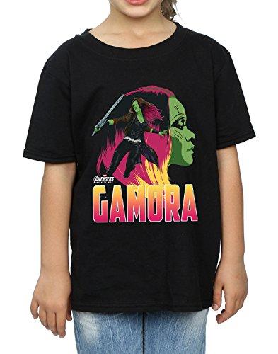 War Gamora shirt Noir T Character Fille Avengers Infinity zq8UzBa