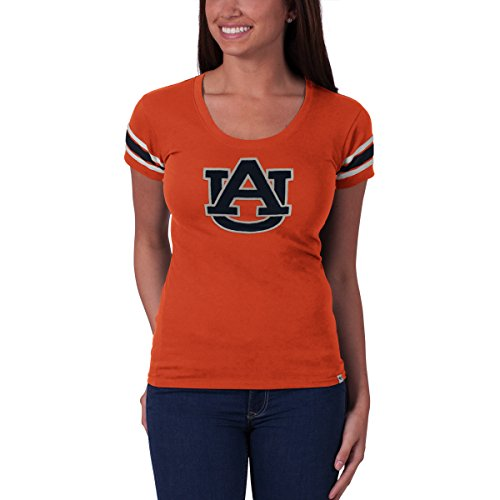 - '47 NCAA Auburn Tigers Women's Off Campus Scoop Tee, Large, Carrot