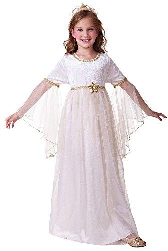 Angel Gabriel Costumes (Angel Gabriel Nativity Girls Childs Fancy Dress Costume & Headpiece - L 146cms by Bristol Novelties)
