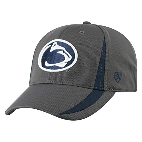 Top of the World NCAA Penn State Nittany Lions Men's Performance Fitted Charcoal Triumph Icon Hat, Charcoal - State Fitted Hat