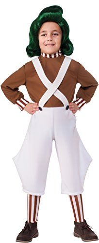 [Rubie's Costume Kids Willy Wonka & The Chocolate Factory Oompa Loompa Value Costume, Medium] (Charlie In A Box Costume)