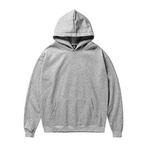 (Men Women Hipster Winter Santa Claus Print Long Sleeve Hooded Sweatshirt Tops)