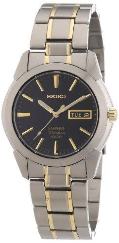Seiko Set Wrist Watch - Seiko Men's SGG735 Titanium Titanium Two Tone Bracelet Watch