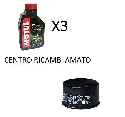 Kit de filtro de aceite + 3 litros de aceite Motul 5100 10W40 Yamaha T-Max 500 2001: Amazon.es: Coche y moto