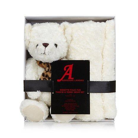 a-by-adrienne-landau-faux-fur-throw-and-teddy-bear-ivory-throw-and-bear