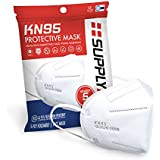 SupplyAID RRS-KN95-5PK KN95 Mask, Protection Against PM2.5 Dust. Pollen and Haze-Proof, 5 Pack