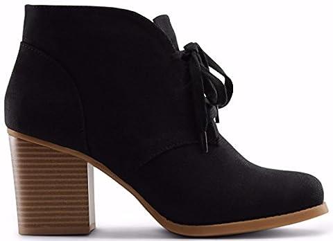 Marco Republic Stockholm Medium Mid Heels Ankle Booties Boots - (Black) - 8.5