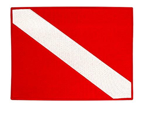 Large Diver Down Flag Patch 11-inch Embroidered Iron On Scuba Diving Emblem Souvenir