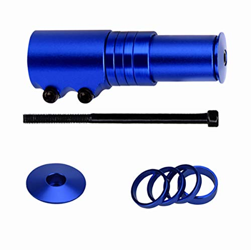 Yannuo Trading Bicycle Bike Handlebar Fork Stem Riser Rise Up Extender Head Up Adaptor Durable MTB Mountain Cycling Part(Blue)