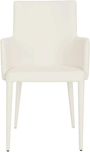 Safavieh Home Collection Summerset Mid-Century Modern White Arm Chair