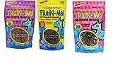 Crazy Dog MINI Train-Me! Training Reward Dog Treats 3 Flavor Variety Bundle: (1) Bacon Flavor, (1) Chicken Flavor, and (1) Beef Flavor, 4 Oz. Ea. (3 Bags Total)