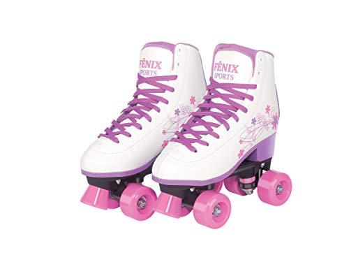 Patins Quatro Rodas Roller Skate, Fenix, Branco