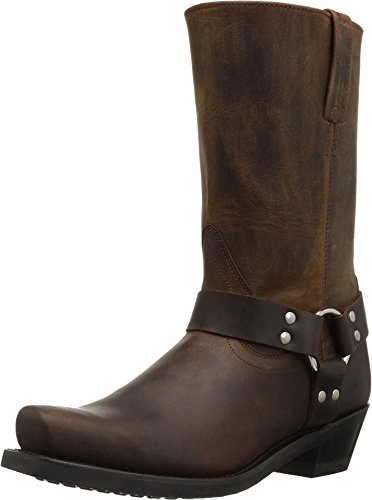 Old West Boots Women's Harness Boot Brown Distressed 9 B US ()