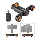 Neewer 3-Wheels Wirelesss Camera Video Auto Dolly,Motorized Electric Track Rail Slider Dolly Car with Remote Control,3 Speed Adjustable for DSLR Camera Camcorder Gopro iPhone and Samsung Phones