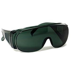 Large Frame Fit Over Sunglasses Dark Green Lens Covers Prescription CSC