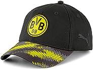 PUMA Standard BVB Iconic Archive Baseball Cap, Black-Cyber Yellow, One Size