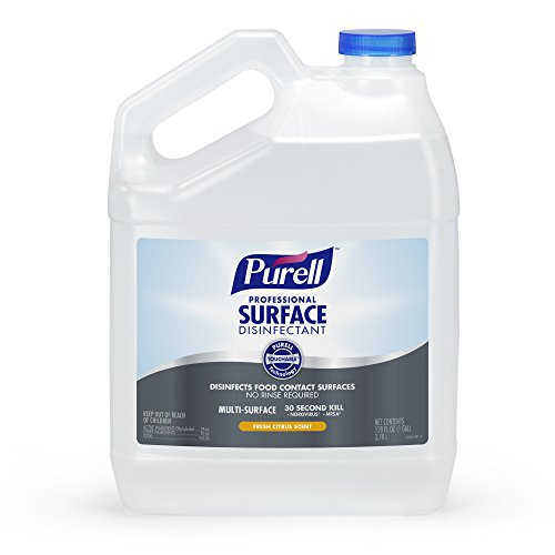 PURELL Professional Surface Disinfectant Spray 1 Gallon – Kills Norovirus in 30 Seconds, Fresh Citrus, RTU (Pack of 4) by Purell