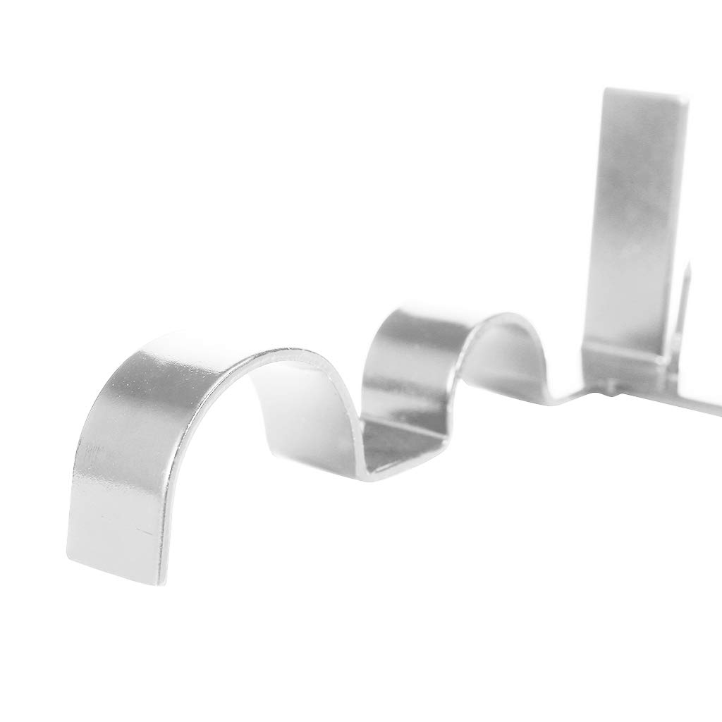 Lpl Double Rod Brackets Curtain Rod Wall Bracket Curtain Holders Tap Right Into Window Frame No Screws No Drills (Silver)