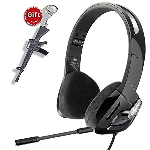 SVYHUOK Stereo Gaming Headset for Boy, Men, Kids, PC, PS4, New Xbox One, Foldable On-Ear Headphone with Detachable Mic, Stereo 30MM Speaker Driver Unit Gift for Children, Teenager, Younger