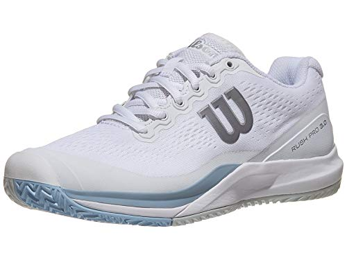 Wilson Women's Rush Pro 3.0 White/Cashmere Blue/Illusion Blue 8 B US
