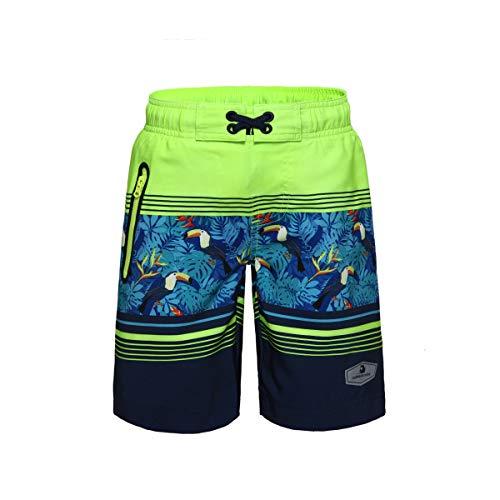 Boys Colorblock Swim Trunks - 2