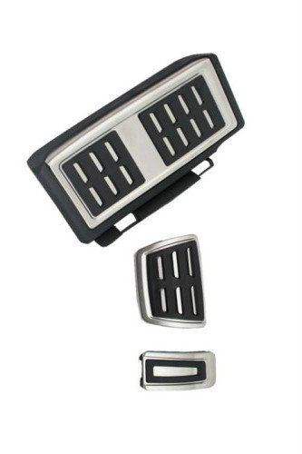 Ormax Stainless Steel Automatic Transmission Pedal Set LHD Models for VW Golf MK7 13+ Models
