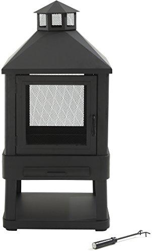 Crosley Furniture Monticello Enclosed Outdoor Fire Pit - Black
