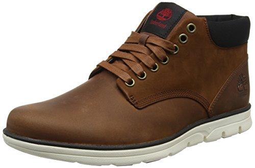Timberland Bradstreet Leather Sensorflex, Stivali Chukka Uomo Marrone (Red Brown Fg)