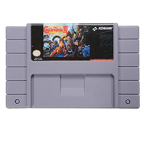 Super IV 16 Bit Game Cartridge Card for 46 Pin SFC NTSC System - Retro Games Accessories Cartridge For - 1 x Super Castlevania IV Game Cartridge (Super Castlevania Iv)
