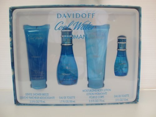Davidoff Cool Water Woman's Fragrance Gift - Cool Perfumes Water Women For Set