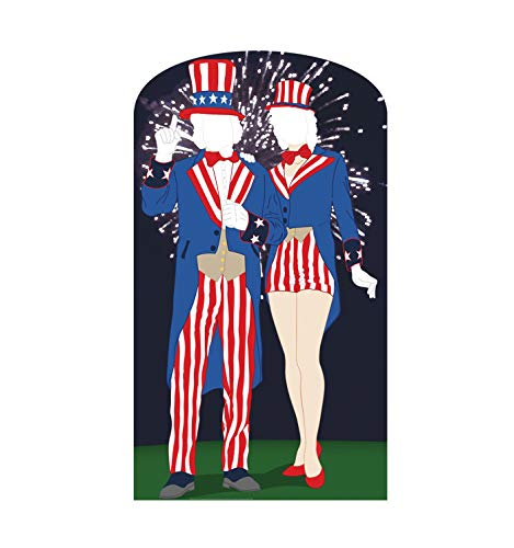 Advanced Graphics Aunt and Uncle Sam Stand-in Life Size Cardboard Cutout Standup -