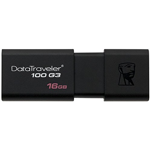 Kingston Digital 16GB 100 G3 USB 3.0 DataTraveler DT100G3/16GB w/Lanyards (16GB - 5 Pack)