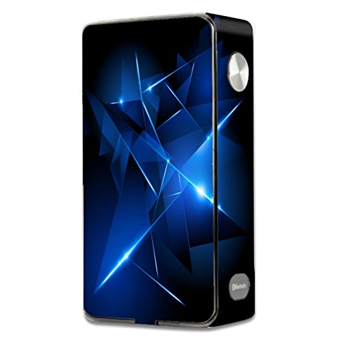 Skin Decal Vinyl Wrap for Laisimo L3 Touch Screen 200w Vape Mod stickers skins cover/ Triangle Razor Blue Shapes