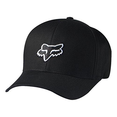 FOX Men's Flex Fit Legacy Logo Hat, Black Large/X-Large