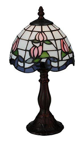 Meyda Tiffany 139081 Roseborder Mini Table Lamp, ()