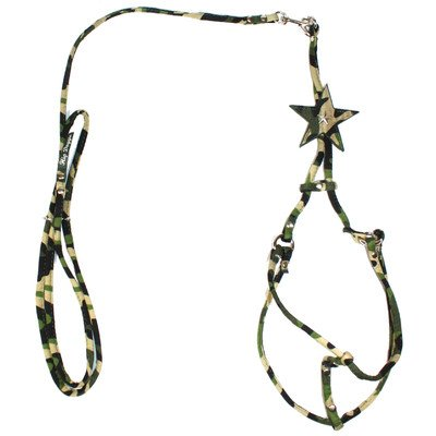Hip Doggie Camo Star Step-in Harness, X-Small Pink Camo Star Step