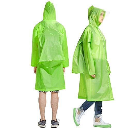 Fashion E Cappuccio Per Donne Escursionismo Adulti Poncho Young Le Grün Trasparenti All'aperto Impermeabili Piumini Con qE0wZpCC