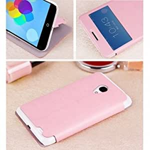 Mofi PU Leather Kickstand Case With View Window For Meizu MX3 --- Color:Pink