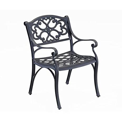 Home Style 5554 802 Biscayne Dining Arm Chair, Black Finish, Set Of 2