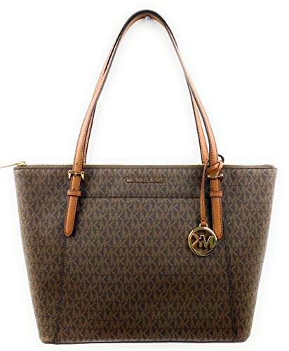 Michael Kors Women's Ciara - Large East West Top Zip Tote No Size (Brown/Acorn) (Brillen Von Michael Kors)