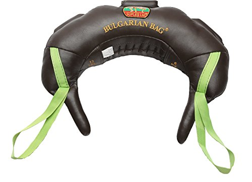 Suples Bulgarian Bag - Original Model - Genuine Leather (17 lbs) - FREE Instructional DVD Included! Fitness, Crossfit, Wrestling, Judo, Grappling, Functional Training, MMA, Sandbag