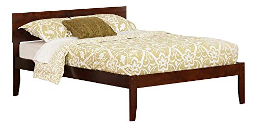 Atlantic Furniture AR8131004 Orlando Platform Bed with Open Foot Board, Full, Walnut