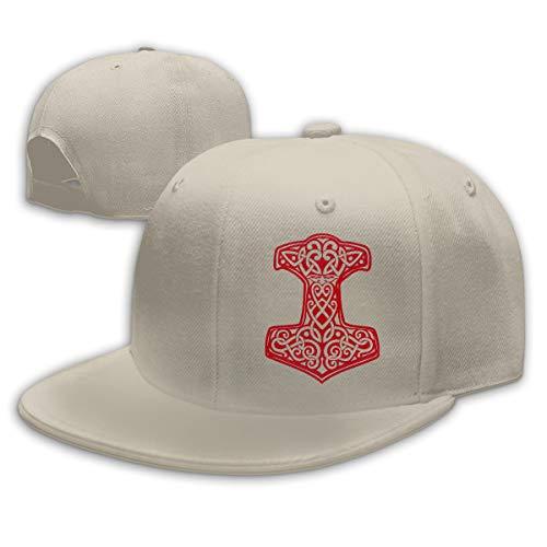 Viking Hammer Norse Adjustable Flat Bill Snapback Baseball Hip-hop Cap Hat (Trukfit Cap)