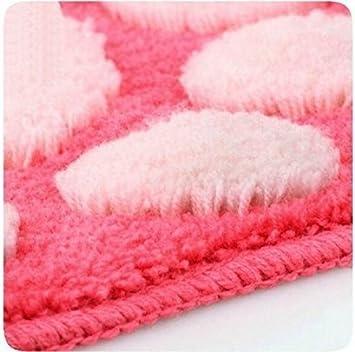 Rosa Blu Interestmaker Lovely Foot-Shaped Antiscivolo Camera Tappeto da Pavimento Tappeto zerbino Tappetino da Bagno