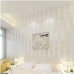 QIHANG European Modern Minimalist Country Luxury Stripe Wallpaper Roll for Living Room Bedroom Tv Backdrop Wall Cream&white Color