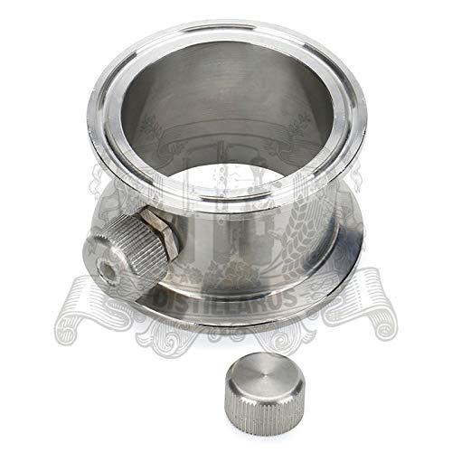 Maslin 1,5'' - 4'' Tri-clamp Pipe with thermowell Nipple Stainless Steel 304 - (Size: 51mm)