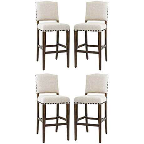 D ART Taylor Counter Stool With Backrest Set Of 4