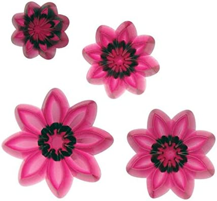 JEM 3 Set SMALL MULTI PETAL DAISY GERBERA Flower Plastic Icing Cut Out Cutters