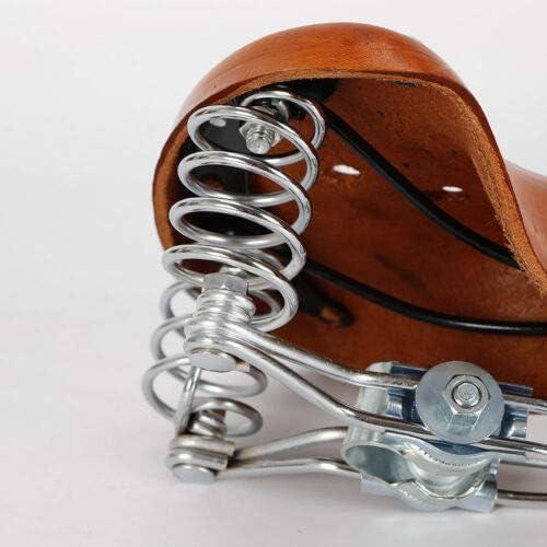 Sill/ín de piel de vacuno para bicicleta de estilo retro Kaibrite sill/ín de piel de vacuno